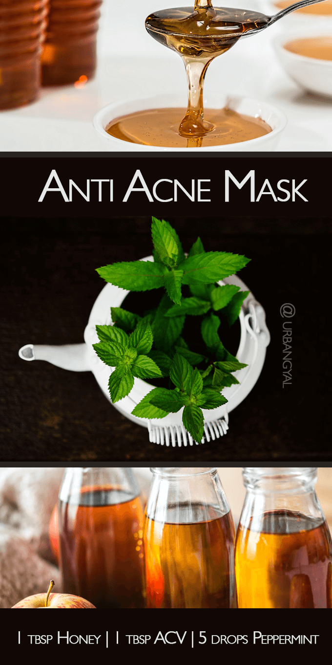 Apple Cider Vinegar Honey Peppermint Mask
