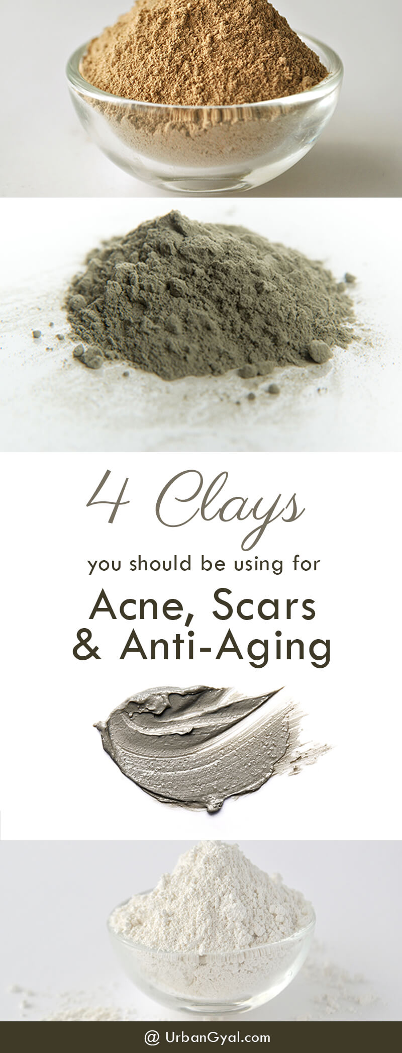 4 Clays you should be Using for Acne, Scars and Anti-Aging | Clay Mask