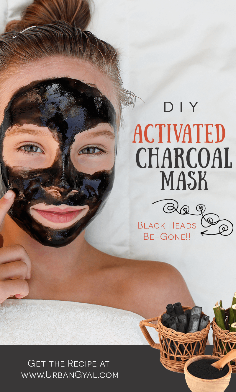 Activated Charcoal Mask, Black Heads Be-Gone