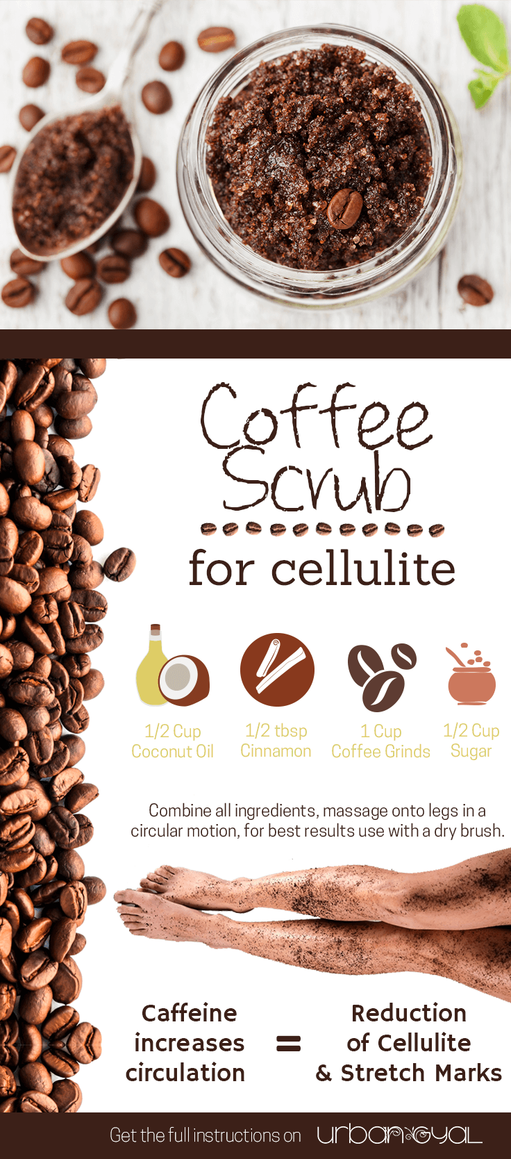 Coffee Scrub to Get Rid of Cellulite