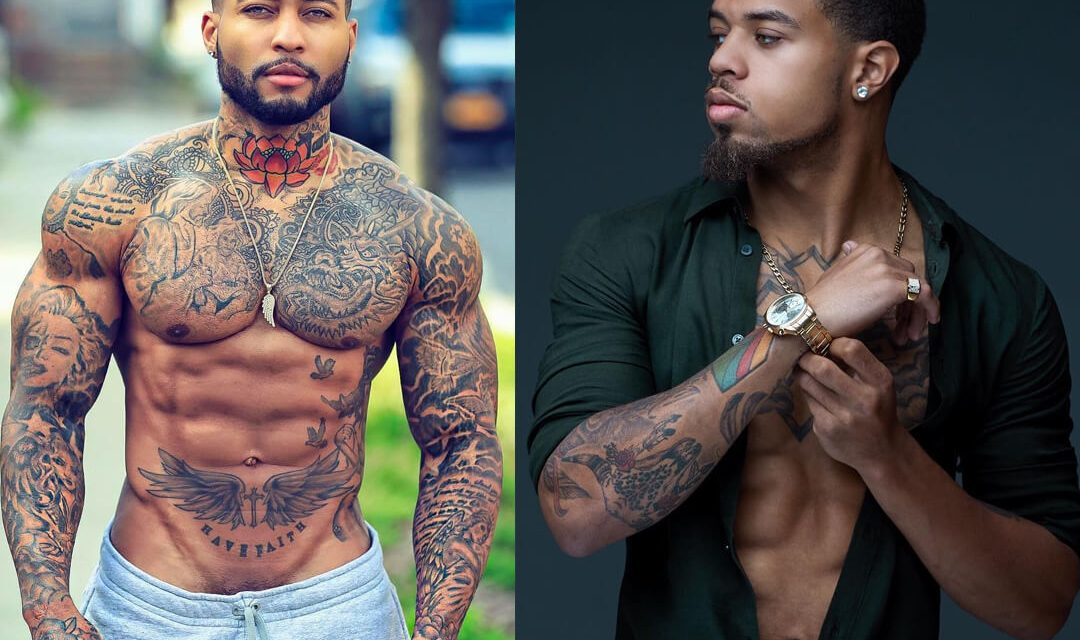 Hottest Black Male Models With Tattoos