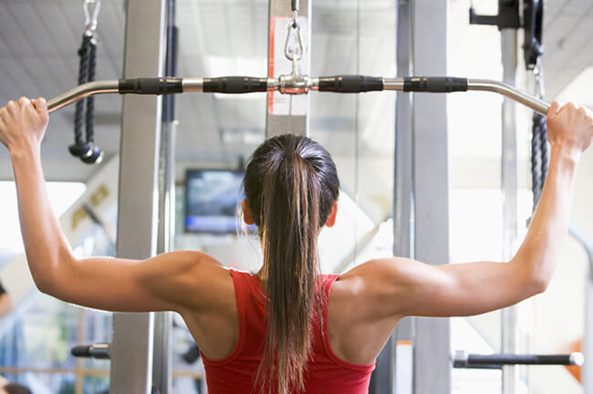 Lateral Pull Down Back Exercise