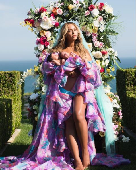 New Pics! Beyonce Debuts Her 1 Month Old Twins Sir And Rumi Carter